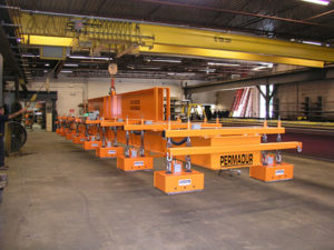 Permadur sheet lifting system in air