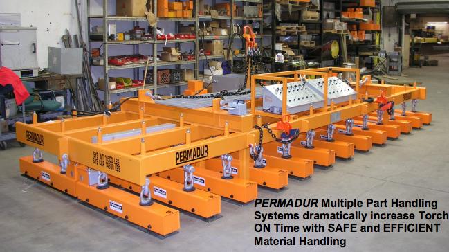 permadur multiple part handling magnet system series 1326