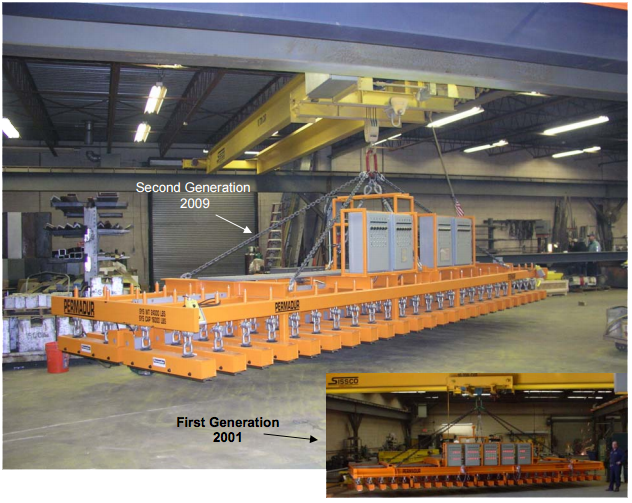 permadur multiple part handling magnet system first and second generation series 2550