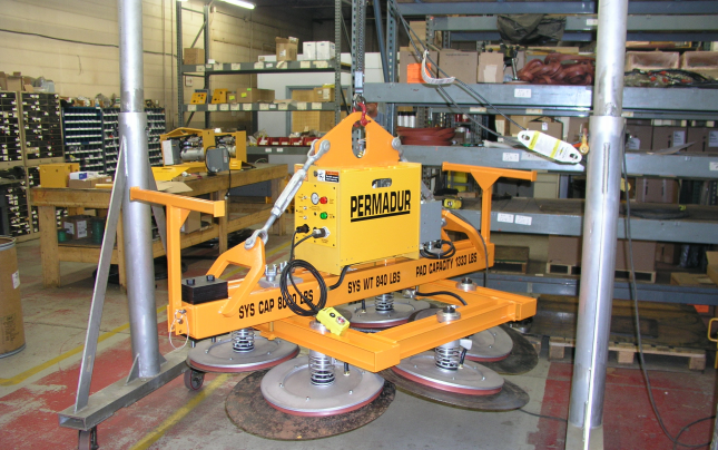 permadur small plate vacuum lifting system series 406-S
